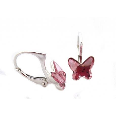 Náušnice motýliky 10 mm – farba LIGHT ROSE