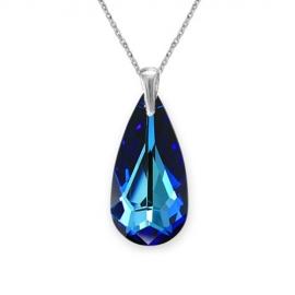 Elegantný prívesok Swarovski elements slzy modrý BERMUDE BLUE 24mm