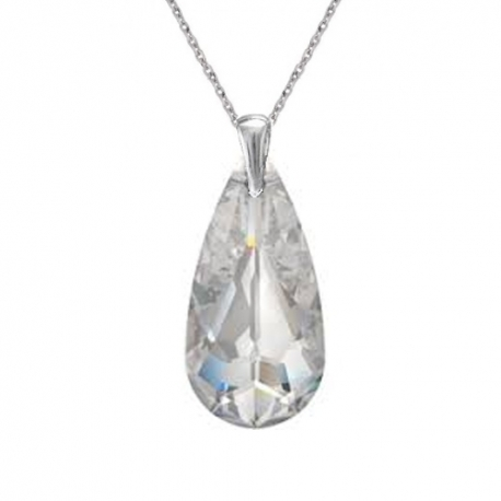 Elegantný prívesok Swarovski elements slzy číry Crystal 24mm