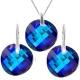 Krásny set Swarovski elements Twist modrý BERMUDA BLUE 18mm