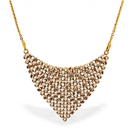 Strieborný náhrdelník Swarovski elements Chic S PVD ZLÁTENÍM