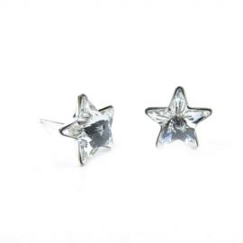 Náušnice napichovacie hviezdy 5 mm – farba Crystal