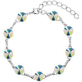 Náramok Swarovski elements 10mm rivoli biely– Crystal AB F