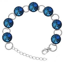 Náramok Swarovski elements 12mm rivoli modrý – BERMUDA BLUE