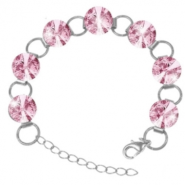 Náramok Swarovski 12mm rivoli – LIGHT ROSE