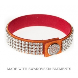 Náramok swarovski ORANGE & CRYSTAL