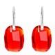 Náušnice  Swarovski elements Graphic červené LIGHT SIAM 19mm