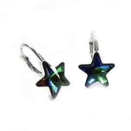 Náušnice krásne hviezdy 10 mm – farba Crystal VM