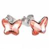 Náušnice motýliky 10 mm – farba ROSE PEACH – napichovačky