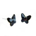 Náušnice motýliky 12 mm – farba SILVERNIGHT – napichovačky