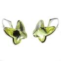 Náušnice motýliky 12 mm – farba ŽLTE