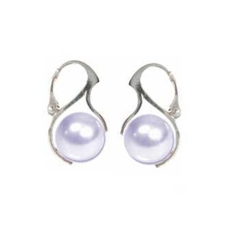 Náušnice perly Swarovski elements 10 mm biele