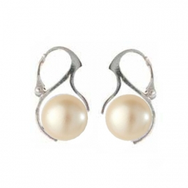 Náušnice perly 10 mm krémová