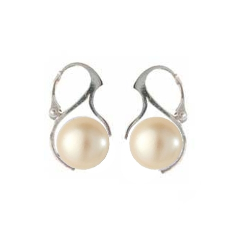 Náušnice perly Swarovski elements 10 mm krémová