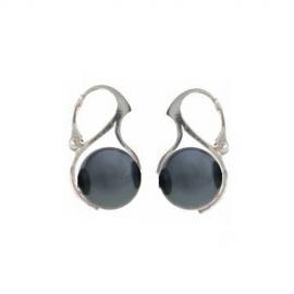 Náušnice perly 10 mm tmavé