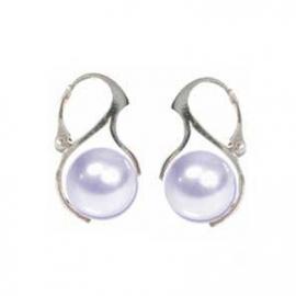 Náušnice perly Swarovski elements 12 mm biele