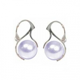 Náušnice perly 12 mm biele