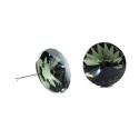 Náušnice rivoli 12 mm vo farbe BLACK DIAMOND – napichovačky
