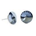 Náušnice rivoli 12 mm vo farbe BLUE SHADE – napichovačky