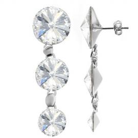 Náušnice Rivoli 14mmx12mmx10mm Crystal