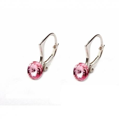 Náušnice swarovski elements Rivoli 6 mm ružové LIGHT ROSE