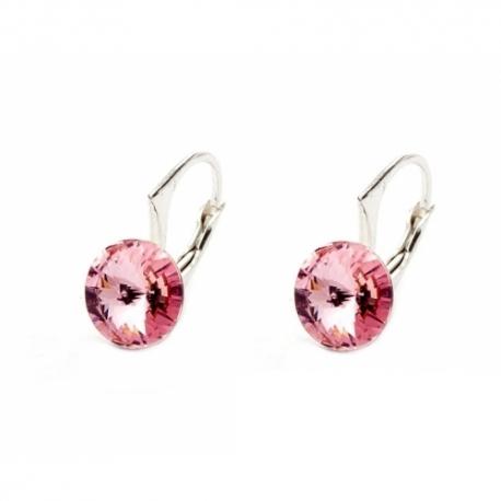 Náušnice swarovski elements Rivoli 8 mm ružové LIGHT ROSE