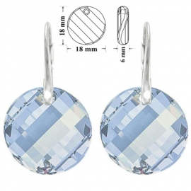 Náušnice Swarovski elements Twist modré BLUE SHADE 18mm