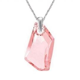 Prívesok Swarovski elements De-Art 24 mm ružový LIGHT ROSE