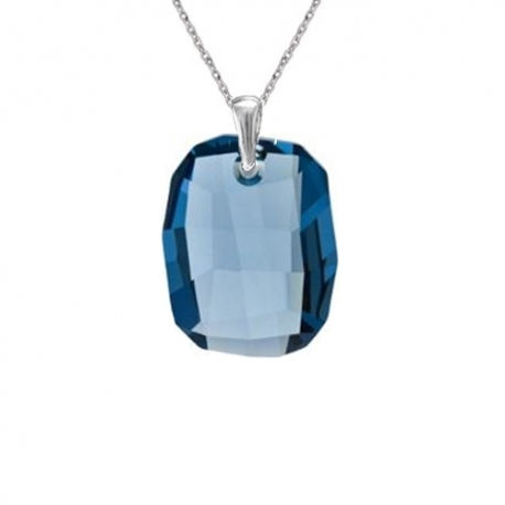 Prívesok Swarovski elements Graphic modrý DENIM BLUE 19mm
