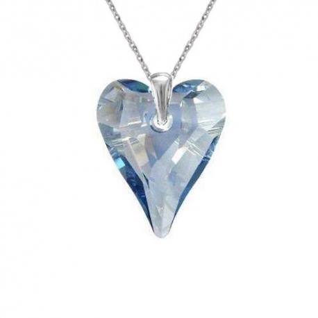 Prívesok srdce Swarovski elements modrý CRAZY – BLUE SHADE 17mm