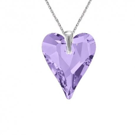Prívesok srdce Swarovski elements fialový CRAZY – TANZANITE 17mm