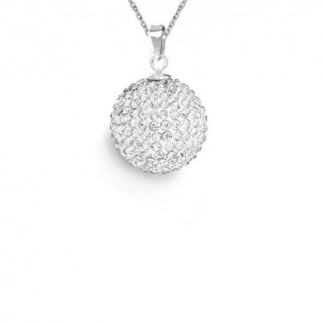 Prívesok Swarovski elements Discoball 14 mm   číry Crystal