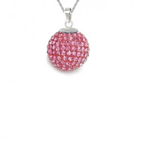 Prívesok Swarovski elements Discoball 14 mm  ružový Light Rose