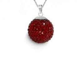 Prívesok Swarovski elements Discoball 12 mm červený Siam