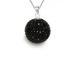 Prívesok Swarovski elements Discoball 18 mm čierny JET