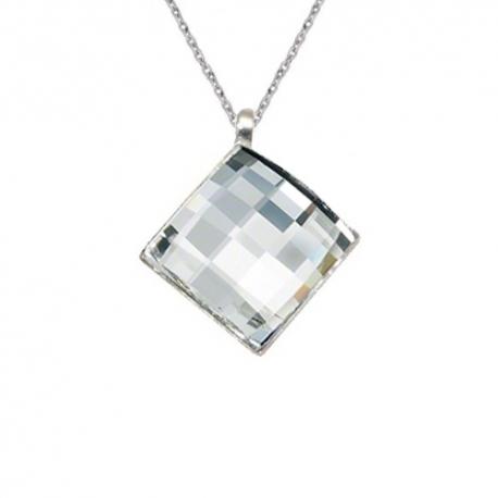 Prívesok Swarovski elements šachovnicový štvorec číry 12 mm Crystal