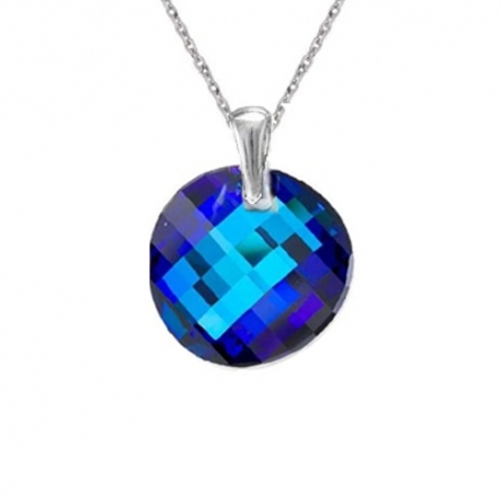 Prívesok Swarovski elements Twist modrý Bermuda Blue 18 mm