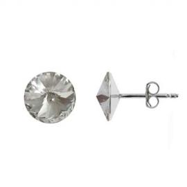 Náušnice Swarovski elements Rivoli 10 mm číre CRYSTAL – napichovačky