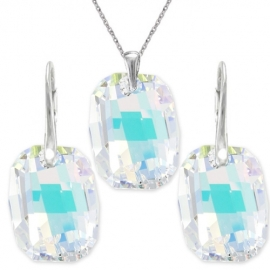 Set  Swarovski elements Graphic  dúhovy CRYSTAL AB 19mm