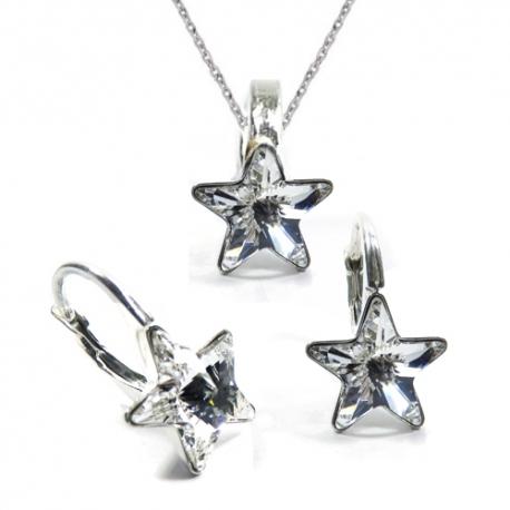 Set Swarovski elements hviezdy 10 mm číry Crystal