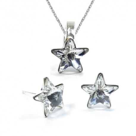 Set Swarovski elements hviezdy 10 mm číry Crystal – napichovačky