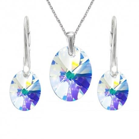 Set Oval Crystal AB