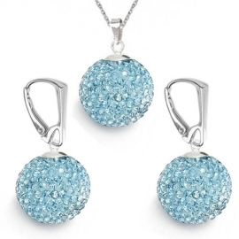 Set Swarovski Discoball 18 mm – AQUAMARINE
