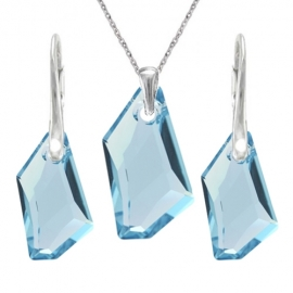 Set šperkov  Swarovski elements De-Art modrý AQUAMARINE 18mm