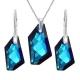 Set  Swarovski elements šperkov De-Art modrý BERMUDE BLUE 18mm