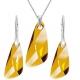 Set šperkov   warovski elementsv tvare krídla oranžovoružový ASTRALPINK 23mm