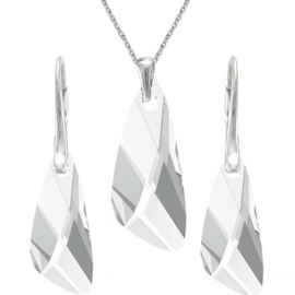 Set šperkov  Swarovski elements v tvare krídla číry CRYSTAL 23mm