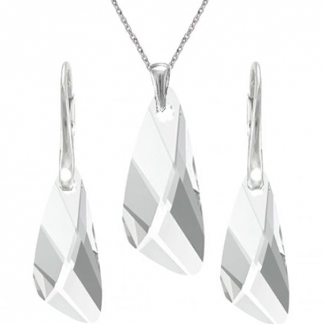 Set šperkov v tvare krídla CRYSTAL
