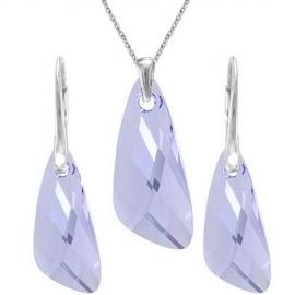 Set šperkov  Swarovski elements v tvare krídla fialový  PROVENCE LEVANDER 23mm