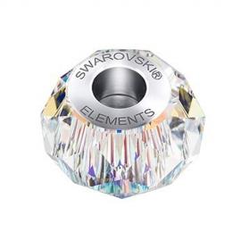 Korálka SWAROVSKI BECHARMED - BRIOLETTE dúhová Crystal AB 14mm